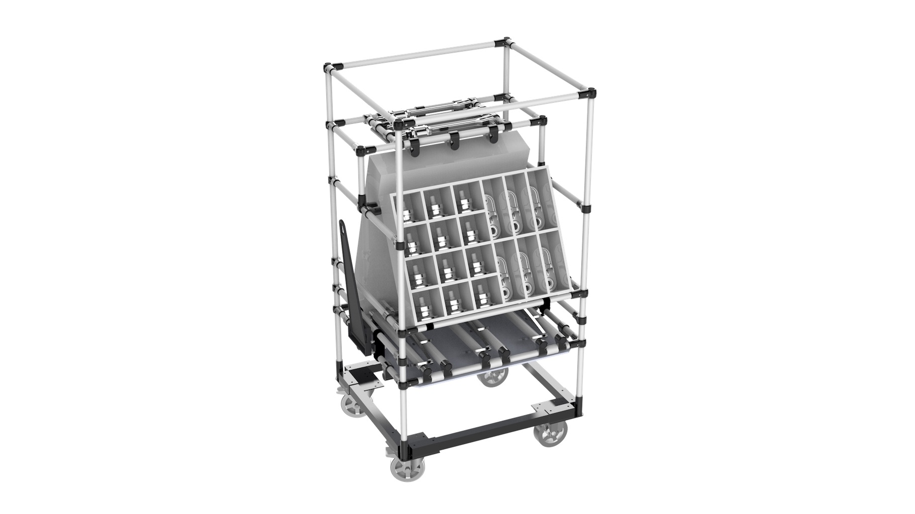 """Agriculture - """"Sequencer"""" towed kitting cart with base."""