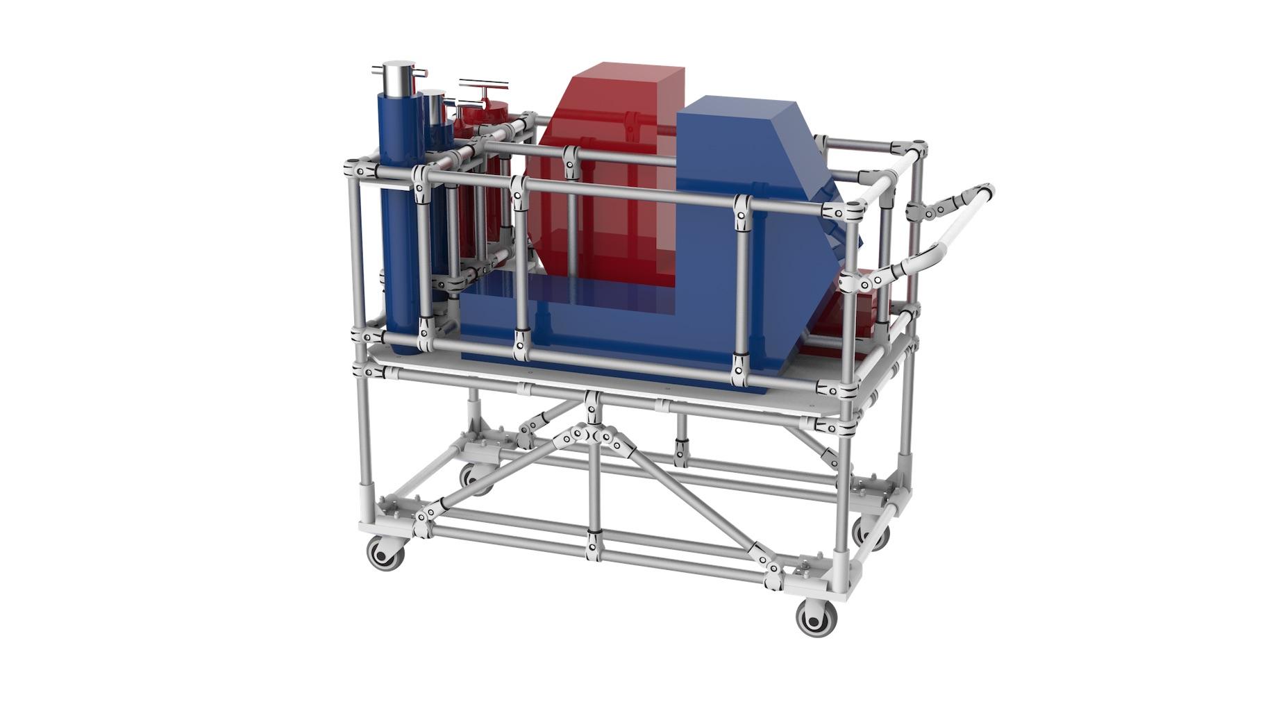 Aerospace - Handling tools support trolley.