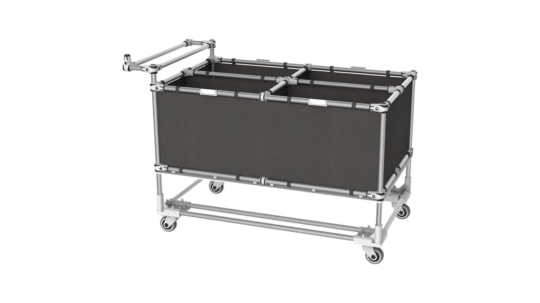 Retail - Trolley for the preparation of orders and sorting of references of various shapes.