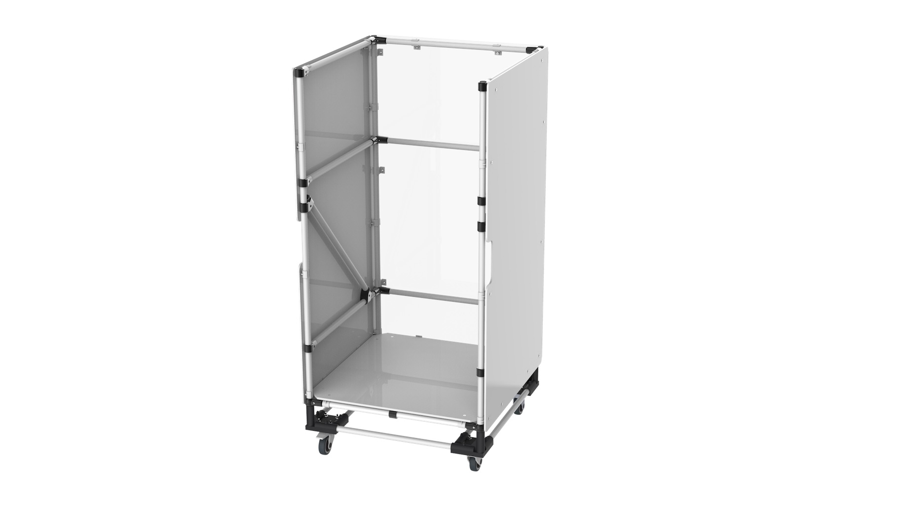 Logistic - Pre-assembled kitting and transport trolley.