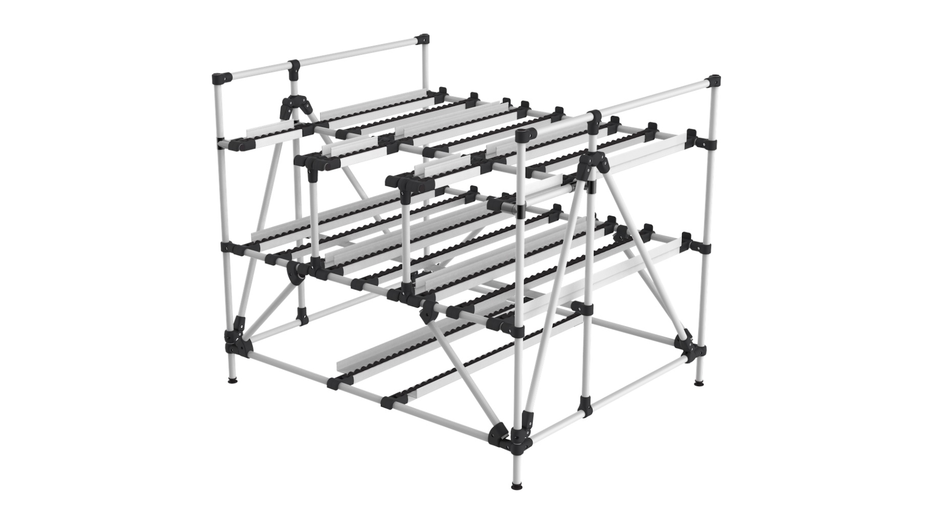 Retail / E-Commerce - Order preparation rack, due to its particular architecture, this rack allows easy selection of references for optimized picking.