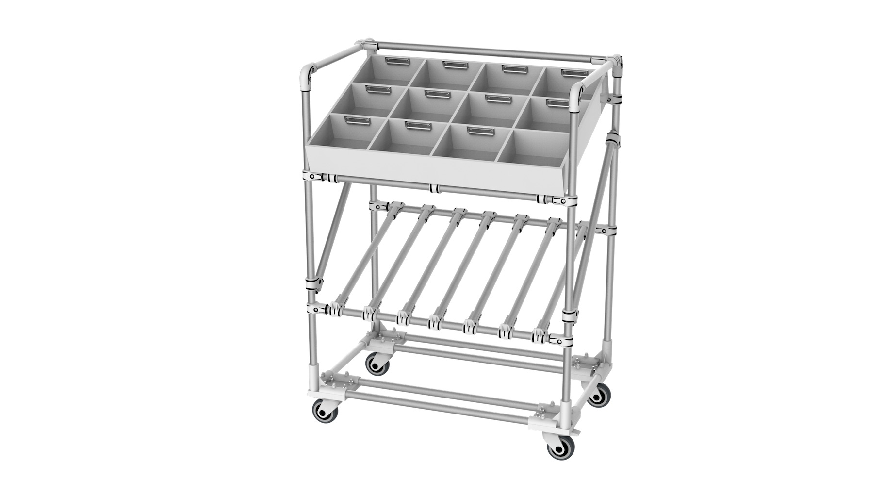 Retail - Trolley for preparing orders for jewelry and other small items