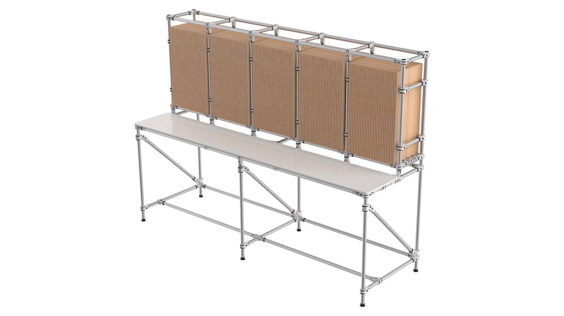 Food industry - Bespoke workbench and order preparation for food industry.