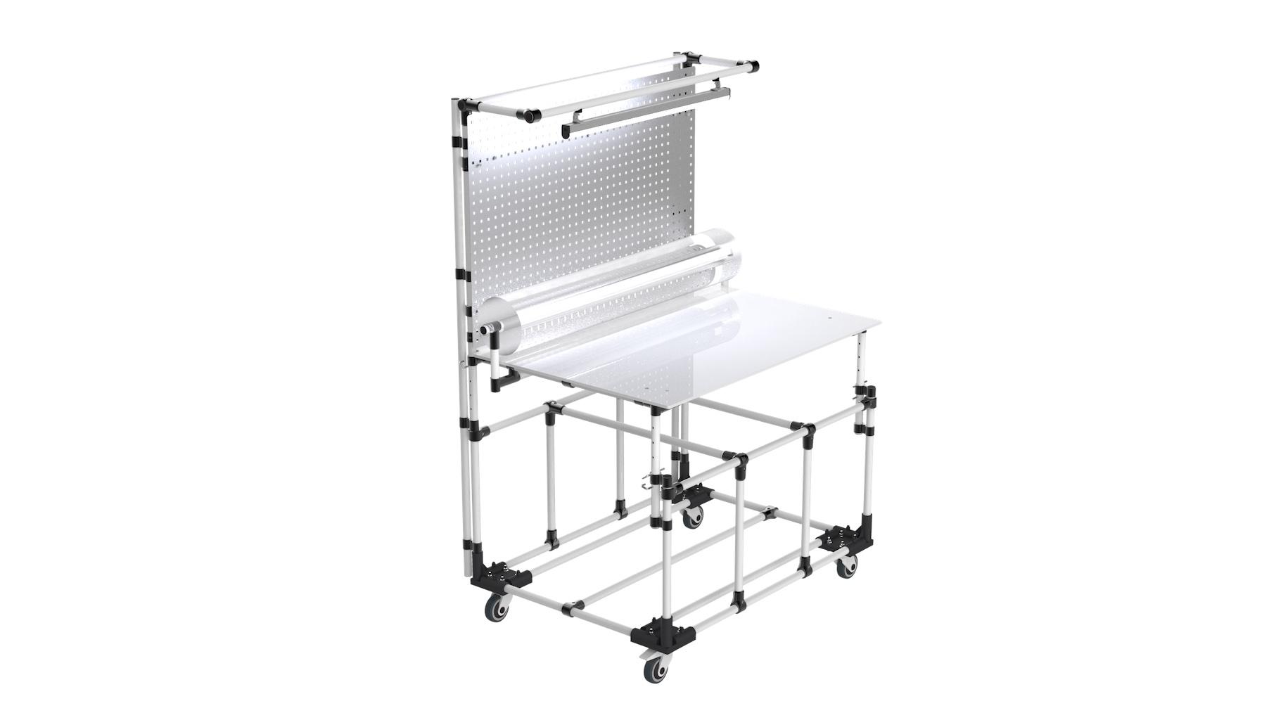 Logistics - Bespoke mobile workbench for order preparation.
