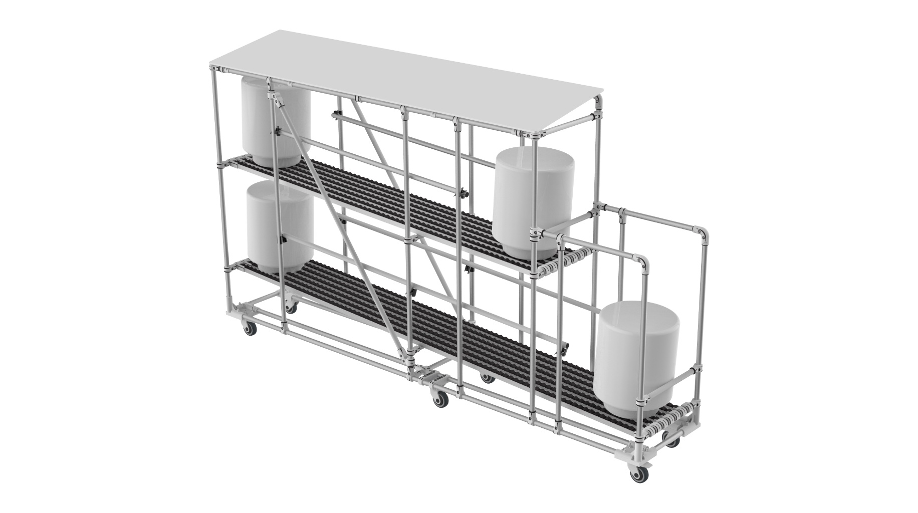Logistic industry - Technical live storage for roll handling with FIFO function.