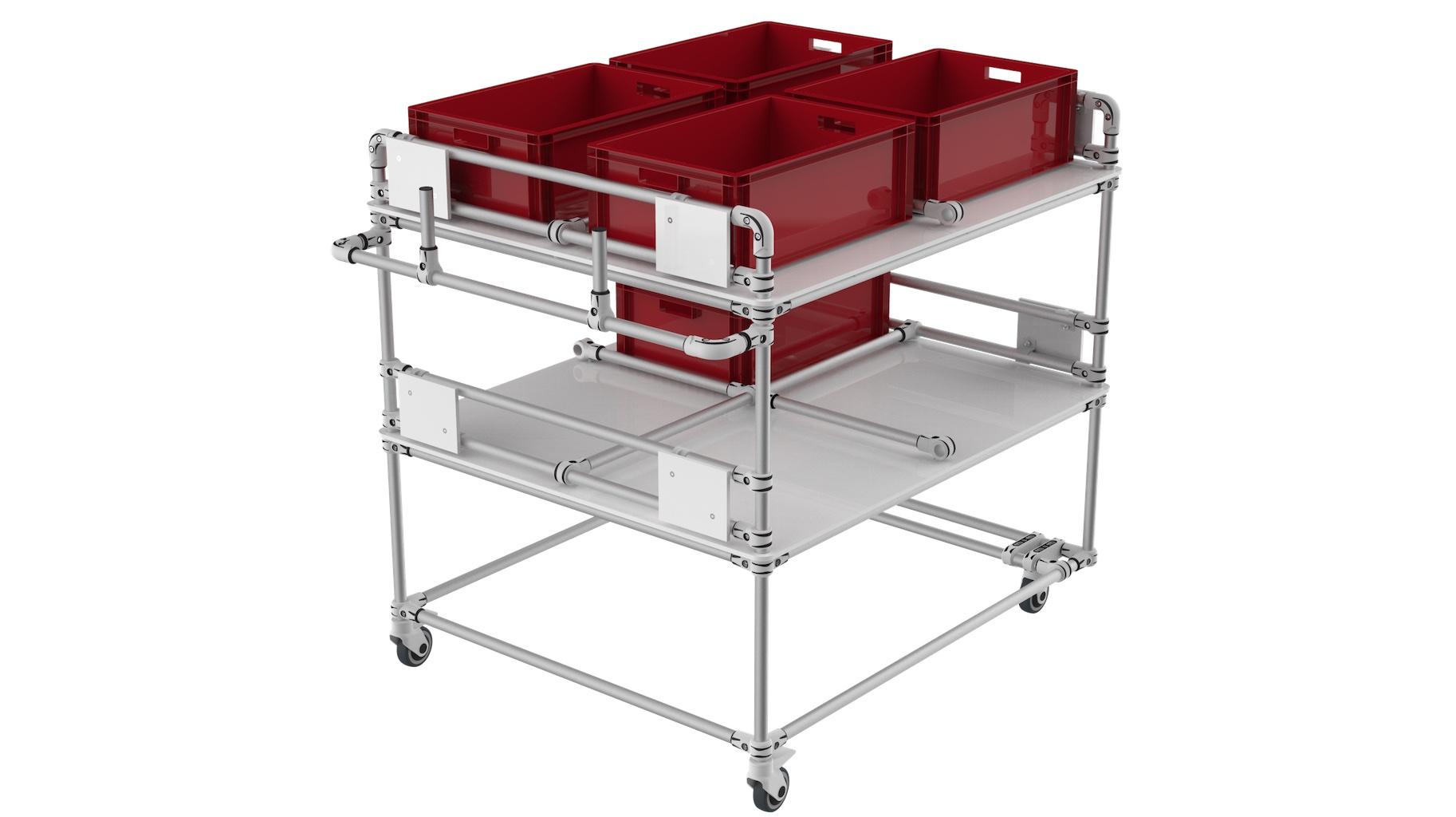 E-commerce - Bespoke technical Compartment cart.