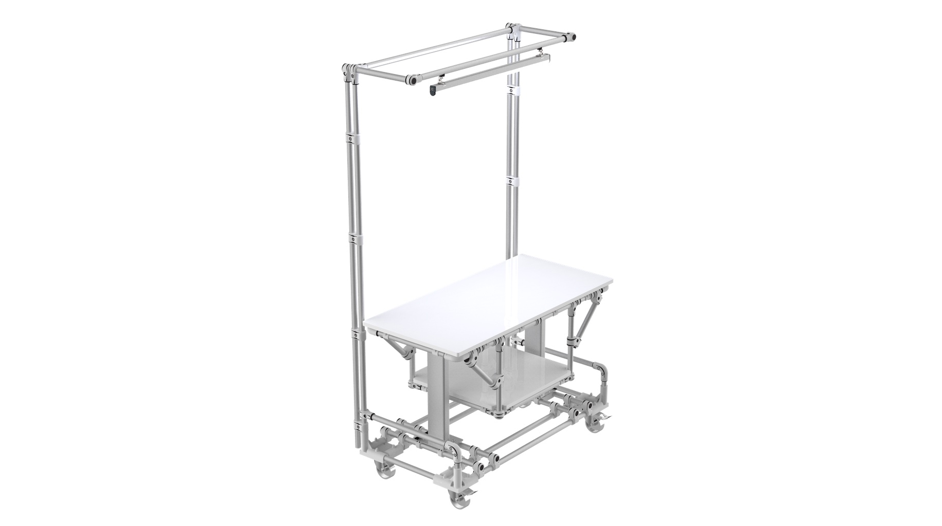 Industry - Ergonomic mobile bespoke technical workbench.