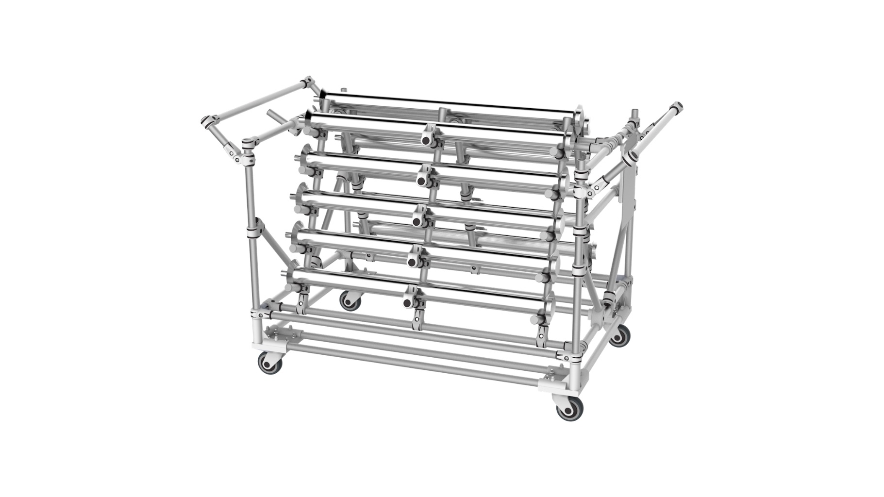 Aerospace - Cantilever for the transport and storage of lighting parts for aeronautics.