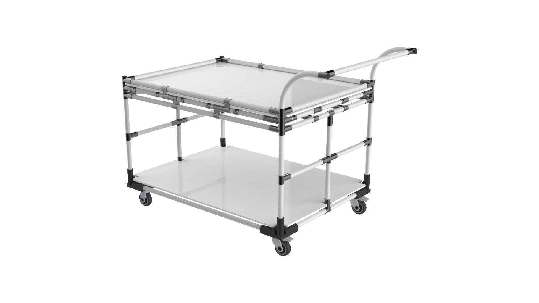 Industry - Heavy duty steel cart.