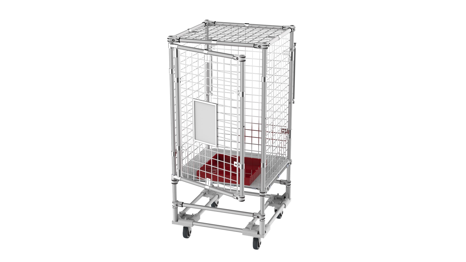 Pharmaceutical - Storage trolley for finished products to be kept under key/padlock